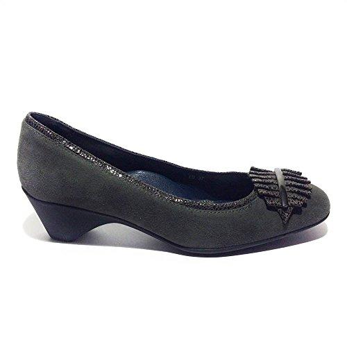 Stonefly Zapatos de vestir de ante para mujer Gris gris