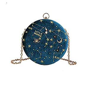 Small Crossbody Bags for Women Round Clutch with Chain Strap Cell Phone Purse Hand Bag for Ladies Shoulder Messenger Bags