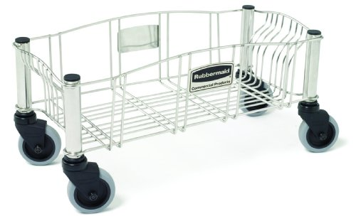 - Rubbermaid Dolly for Slim Jim Container - Stainless Steel