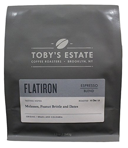 Toby's Estate Coffee, Flatiron Espresso Blend 12 oz bag, Whole Bean - Rate Time Delivery Usps Flat