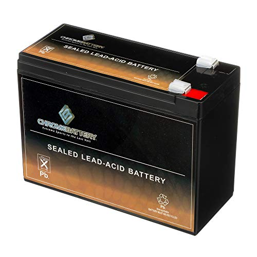 SLA Replacement Battery 12V 10AH AGM Battery- Sealed Lead Acid- Rechargeable & Maintenance Free- Chrome Battery (12v 10ah Sla Rechargeable Battery F2 Terminals)