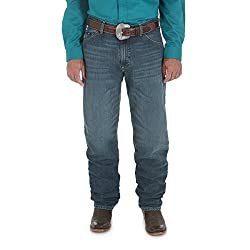 Wrangler Men's 20X Cool Vantage Competition Relaxed Fit Ocean Blue Jean, Ocean Blue, 36x36
