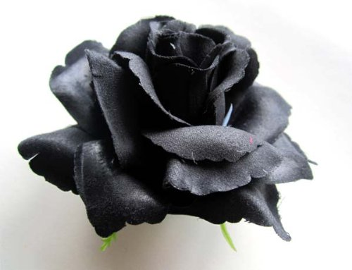 4-BIG-Black-Silk-Roses-Flower-Head-375-Artificial-Flowers-Heads-Fabric-Floral-Supplies-Wholesale-Lot-for-Wedding-Flowers-Accessories-Make-Bridal-Hair-Clips-Headbands-Dress