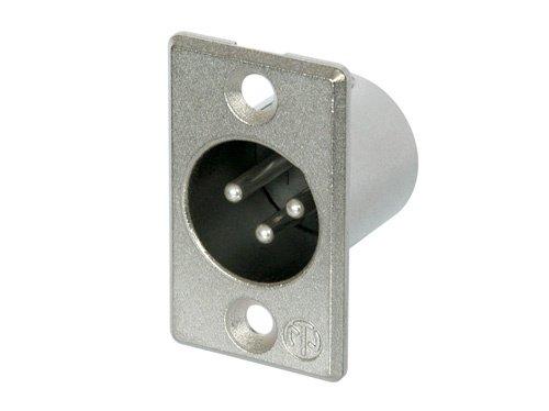 Neutrik NC3MP Full Size 3-Pin M PNL MT XLR