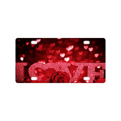 Love Valentines License Plate with Personalized and Novelty -12