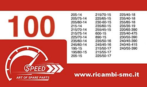 Catene da Neve OMOLOGATE Speed 9mm per GOMME 215 70 R15 Gruppo 100