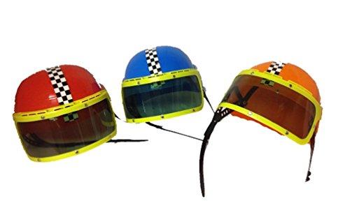 Motor Racing Costume For Kids (Child Motorcycle Racing Toy Novelty Helmets Set of 3)