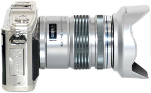 JJC Bayonet Lens Hood LH-J55C SILVER replaces LH-55C for OLYMPUS M.ZUIKO DIGITAL ED 12-50mm 1:3.5-6.3 EZ Lens