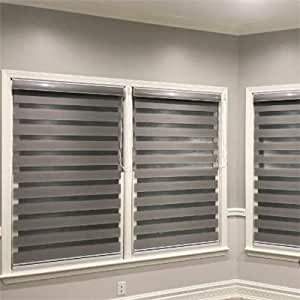 Amazon Com Custom Size Basic Horizontal Zebra Blinds For