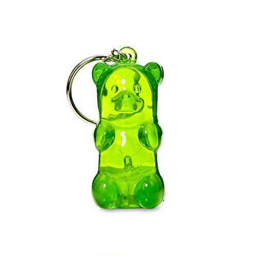 Gummygoods Bite-Sized Gummy Bear Keychain Nightlight in Green