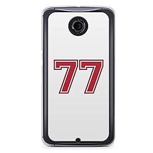 77 Nexus 6 Transparent Edge Case - Numbers Collection