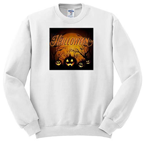 Sven Herkenrath Celebration - Horror Halloween with Scary Pumpkin Autumn Celebration - Sweatshirts - Youth Sweatshirt Med(10-12) -