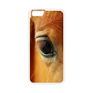 [Funny Series] IPhone 6 Case Horse Eyes, Cute Iphone 6 Case Okaycosama - White