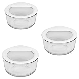Pyrex 6 Piece No-Leak Food Storage Set, White