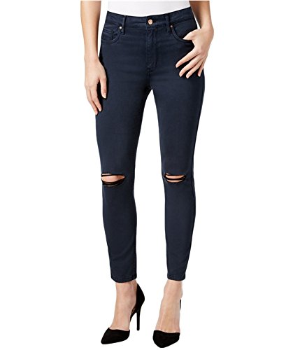 Calvin Bootcut Jeans (Calvin Klein Jeans Women's Ankle Skinny Ripped Pant with Knee Slit, Deep Water, 29)