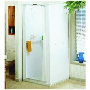 Shower Wall Kit - E.L. Mustee 80 32X32 Durastall Shower, White, 33.5 x 74.0 x 4.7