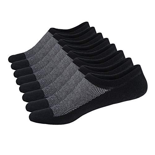 - SIXDAYSOX Men's No Show Socks Men Cotton Loafer Non Slip Low Cut Invisible Socks Mesh Knit 6-11 Pack of 8