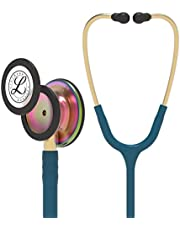 "3M Littmann 5807 Classic III Monitoring Stethoscope, Rainbow-Finish, Caribbean Blue Tube, 27"""