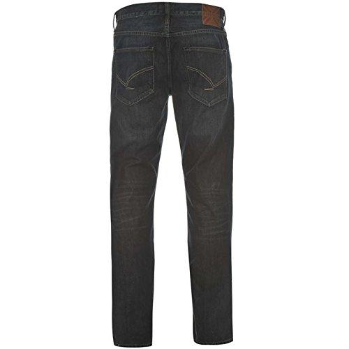 Firetrap Rom Herren Jeans Freizeit Denim Hose Jeanshose Straight Fit Baumwolle Blau 34W S