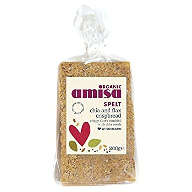Amisa Orgánica Escanda Chia y lino Omega 200 g Pan crujiente ...