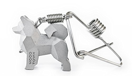 MOODTOWN Handcrafted Stainless Steel Dog Key Chain (Samoyed) – Available in 15 different breeds