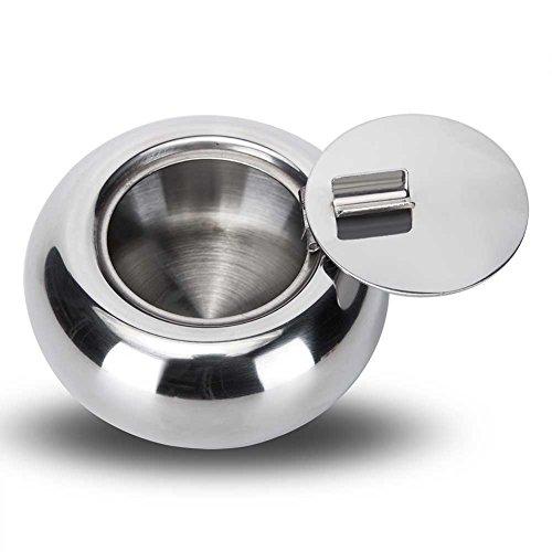LendGaGa stylish ashtray, stainless steel ashtray, covered ashtray, ashtray with cigarette holder, smokers preferred ashtray for home office decoration, car ashtray