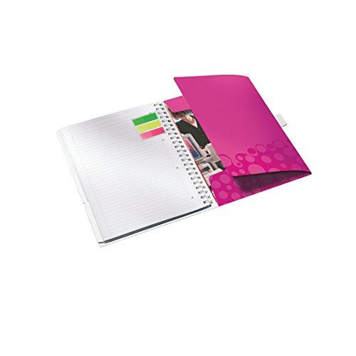 80 fogli Be Mobile WOW Rilegatura a spirale 46450062 Carta 80 gr//mq Viola A quadretti Leitz Blocco per appunti A4 con copertina in PP