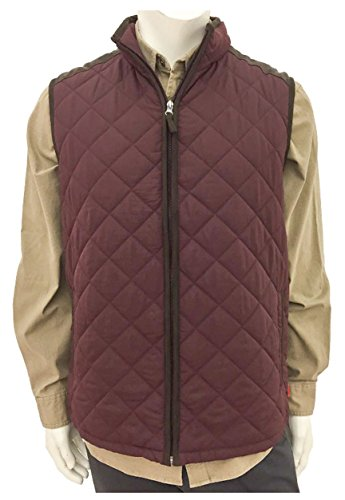 - Coleman Men's Quilted Vest With Faux Suede Trim (Cordovan, Small)