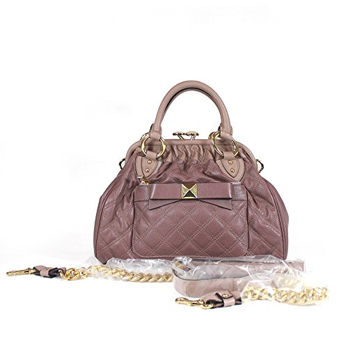 Jacobs Marc Satchel Quilted (Marc Jacobs Lindy Quilted Mini Stam Satchel, Soft Lavender)
