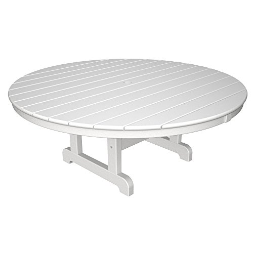 Table Round Coffee Polywood - POLYWOOD RCT248WH Conversation/Coffee Table, White