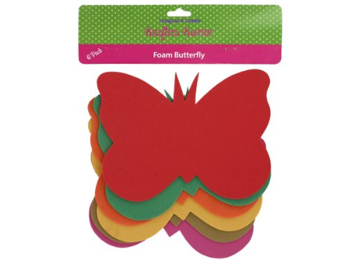krafters korner Foam Butterfly Craft Shapes - Pack of 12