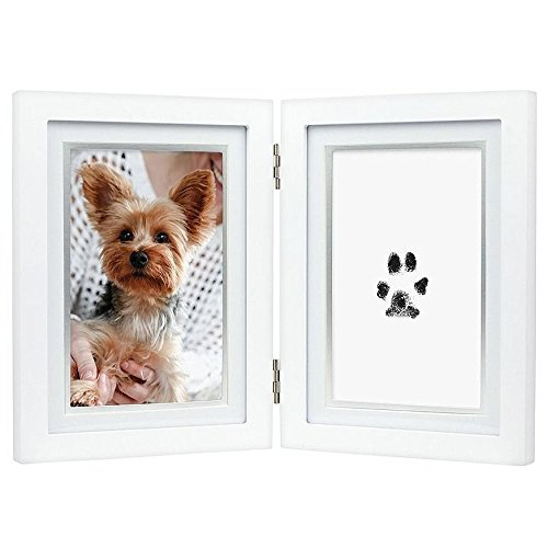 Pearhead 83017 Paw Prints Pet Dog/Cat Keepsake Desk Photo Frame