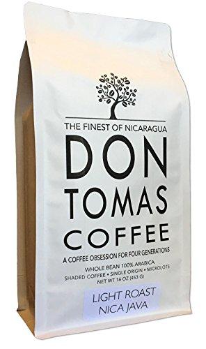 NEW 2017 Harvest. Limited Longberry NicaJava Varietal Microlot - Light Roast (1 LB) Coffee Beans Don Tomas Nicaraguan Coffee - Limited quantities