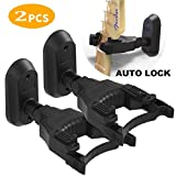 guitar wall mount black 2 pack,auto lock guitar hangers for wall fit Electric Acoustic and Bass Guitars,and Folk Ukulele Violin Mandolin Banjo,new style guitar stand wall mount is designed for you
