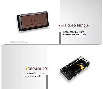 Easy-Fit Clip ferma Stopper Wine Art Crab Belt Clip - Silver Clip Stopper Ferma Cintura di Sicurezza in Plastica per Auto Universale Clip-on tipo