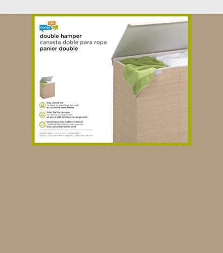 Honey-Can-Do HMP-01453 Sturdy Resin Hamper with Rope Handles 1-Bin Natural