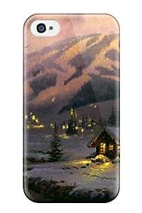 Premium Winter Scene Lovely Back Cover Snap On Case For Iphone 4/4s