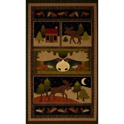 Loose Fabric (Cotton Quilt Fabric - Benartex Moose on the Loose 4300-99 Panel - Multi)