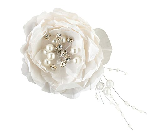 (Lillian Rose Pretty Jewel Flower Wedding Hair Clip Accessories)