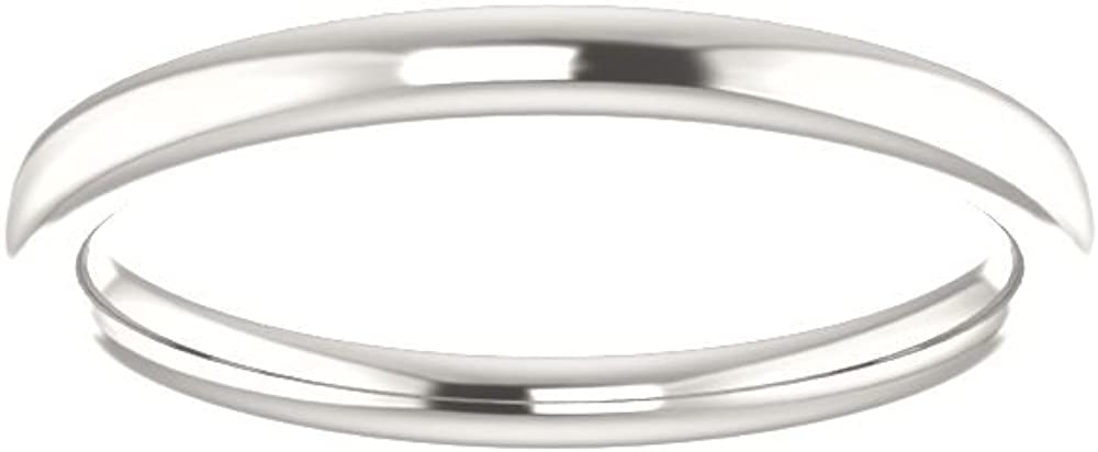 Bonyak Jewelry Continuum Sterling Silver Band for 10 mm Asscher Ring Size 7