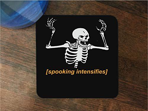 Spooking Intensifies Skeleton Silicone Drink Beverage Coaster 4 Pack by egeek amz]()