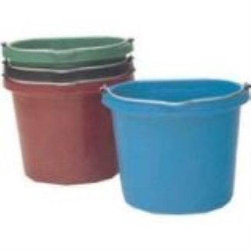 Quart Flat Bucket 20 - Fortiflex Flat Back Feed Bucket for Dogs/Cats and Small Animals, 20-Quart, Hot Pink