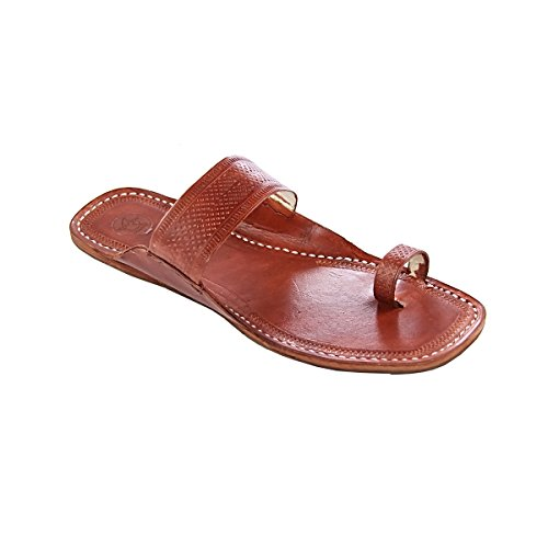 original kolhapuri chappal Awesome red brown for embossed straight belt for brown women slipper sandal B077T6B53M Parent 9c3994