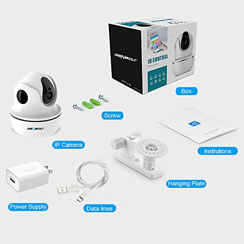 1080P Wireless IP Security Camera - GENBOLT WiFi HD CCTV Pan Tilt Spy Camera indoor for Home Surveillance, Two Way Audio Motion Detection Remote Webcam, Dog Cam, Baby Monitor by GENBOLT (Image #8)