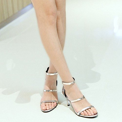 Aiguille With Eclair Femmes Talon Orteil Chaussures Sandales Mode wwztqP