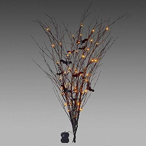 Lighted Branches with Bats Halloween Decoration ()