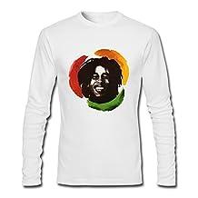 HEJX Mens Bob Marley And The Wailers Custom Long Sleeves T-Shirt HeatherGray