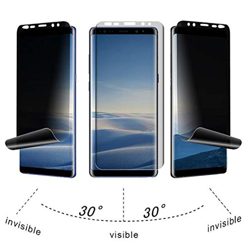 Price comparison product image For Samsung Galaxy Note 9Tiean Ultrathin Privacy Full Screen Protector Anti-Spy TPU Film Easy Installation
