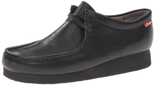 CLARKS Men's Stinson Lo,Black Leather,9.5 M US