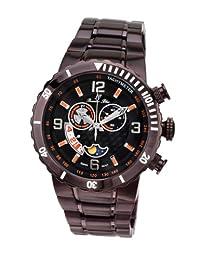 Porsamo Bleu Las Vegas Stainless Steel Dark Brown Men's Watch 111ELVS